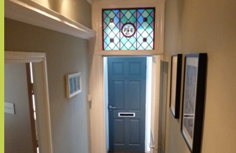Entrance hall. Cheadle Osteopathy. Pricing.