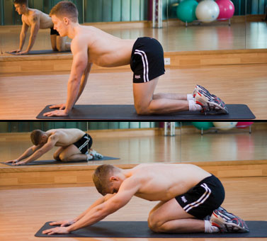 Back pain exercises pictures