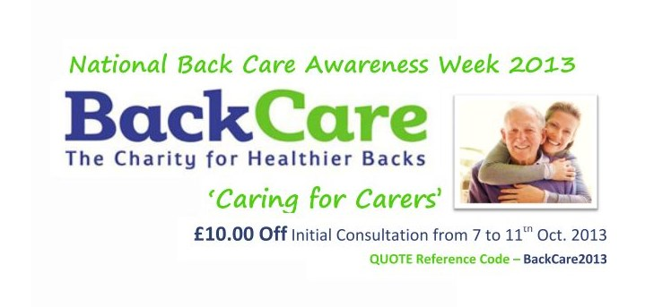 National Back Care Awareness Week – 2013