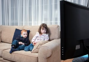 Children spending longer sitting watching TV or playing video games.